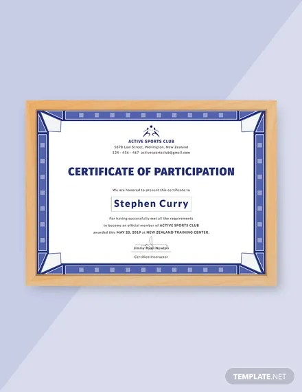 12+ FREE Participation Certificate Templates Download Ready-Made