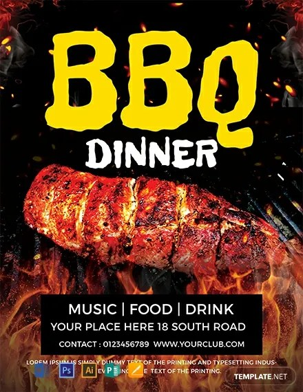 FREE Dinner BBQ Flyer Template Download 812+ Flyers in PSD