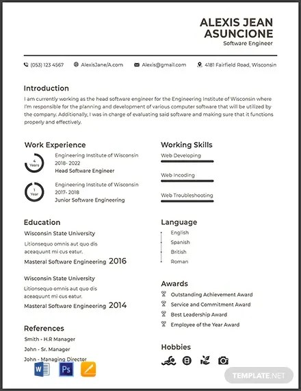 FREE Software Quality Engineer CV Template Download 316+ Resume