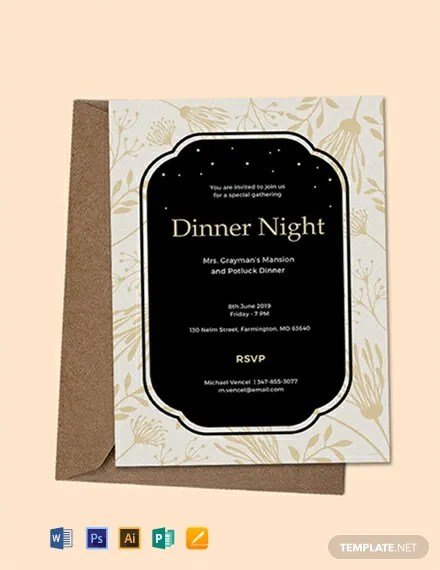 FREE Dinner Invitation Template Download 637+ Invitations in PSD