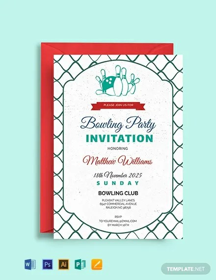 FREE Corporate Bowling Invitation Template Download 637+