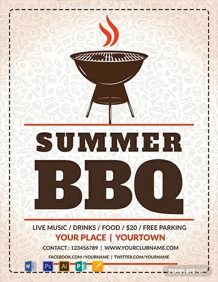 FREE Summer BBQ Flyer Template Download 812+ Flyers in PSD