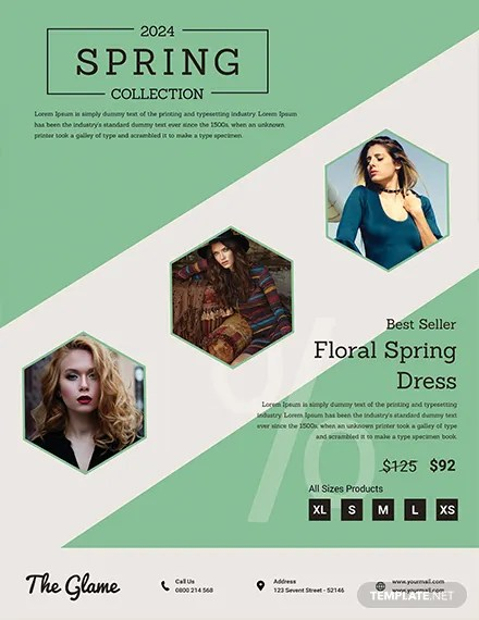 Free Spring Fashion Flyer Template Download 416+ Flyers in PSD - spring flyer template