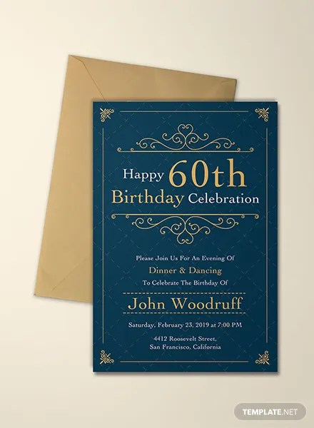 Free Elegant invitation Template in Microsoft Word, Microsoft