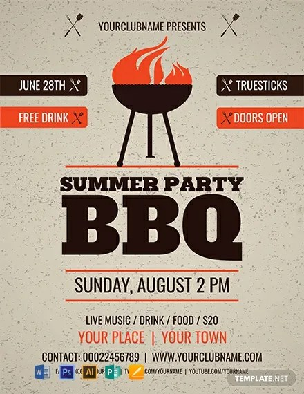FREE Summer Party BBQ Flyer Template Download 812+ Flyers in PSD