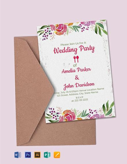 50+ FREE Illustrator Wedding Invitation Templates Download Ready