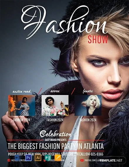 FREE Fashion Show Flyer Template Download 812+ Flyers in PSD