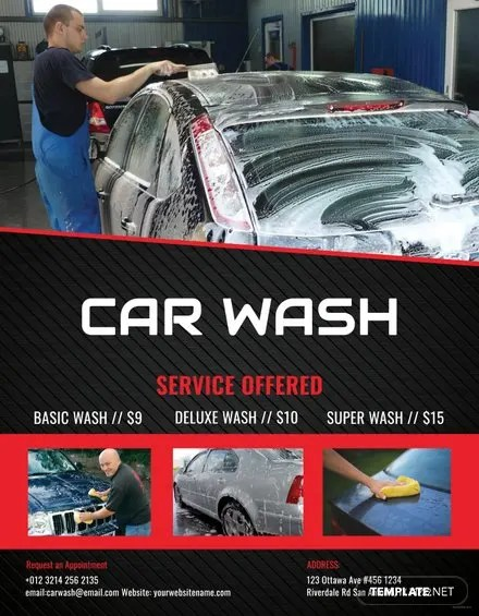 Free Car Wash Flyer Template in Adobe Photoshop, Illustrator - car wash flyer template