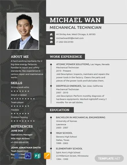 mechanic resume template free