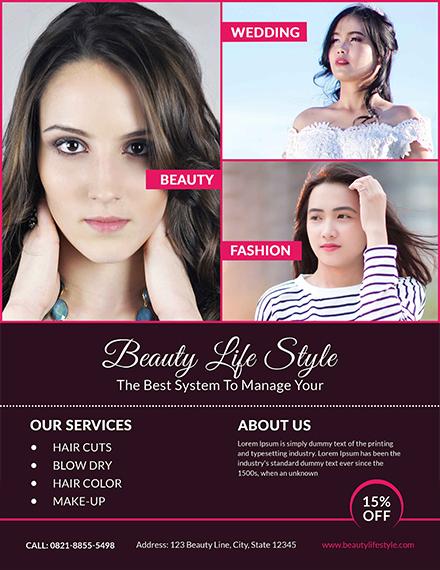 hair salon flyer template - Barcaselphee