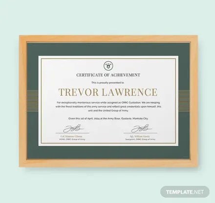 Free Certificate Templates Download Ready-Made Templatenet - army certificate of achievement template
