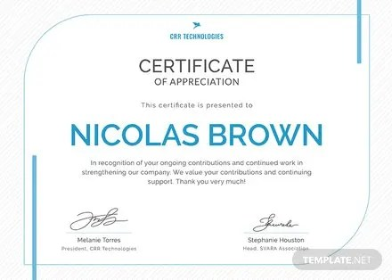 Free Employee Appreciation Certificate Template in Adobe Photoshop - employee recognition certificate template
