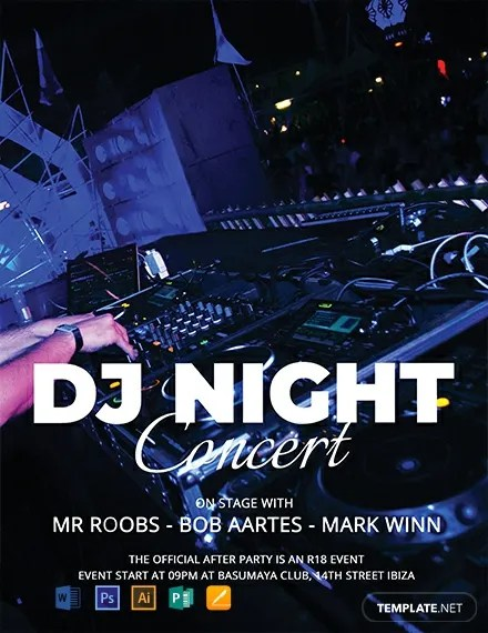 FREE DJ Night Concert Flyer Template Download 812+ Flyers in PSD