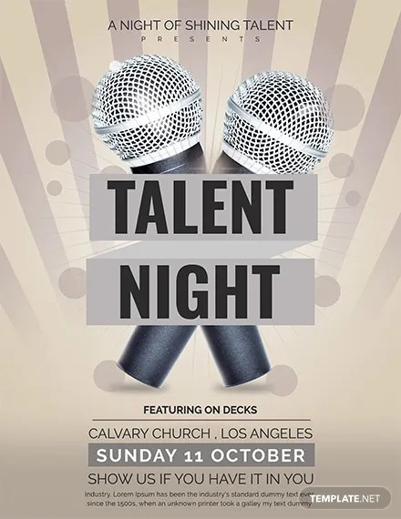 Free Talent Show Flyer Template Download 416+ Flyers in PSD