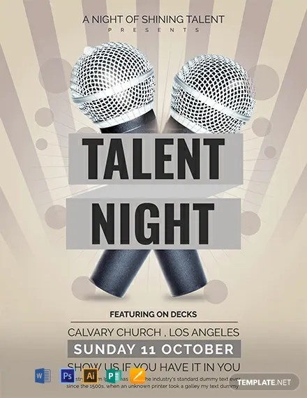 FREE Talent Show Flyer Template Download 884+ Flyers in PSD