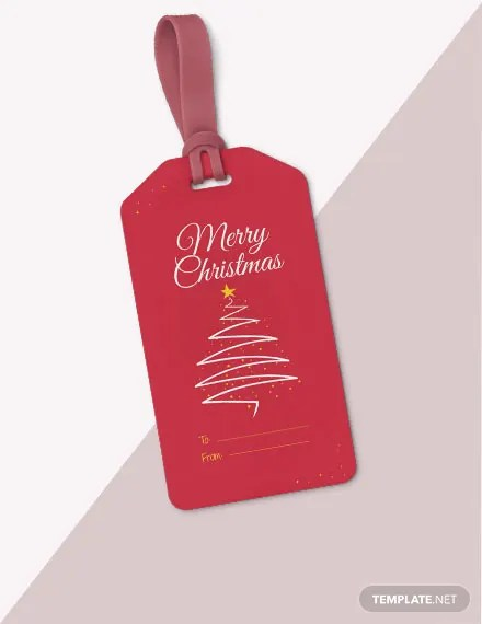 FREE Christmas Gift Tag Template Download 47+ Tags in PSD, Word