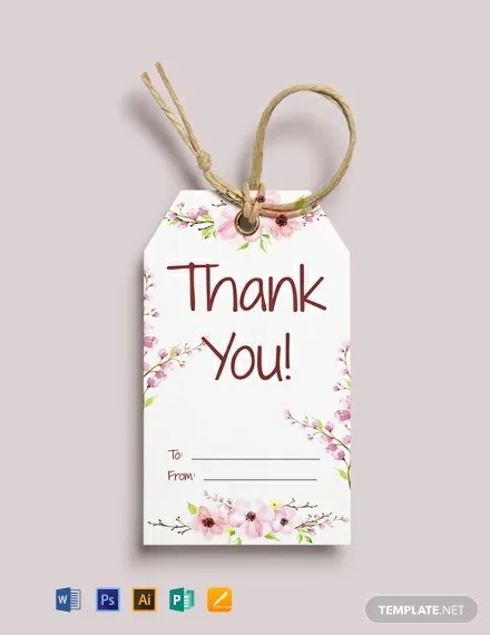 14+ Ready-Made Thank You Tag Templates FREE Templatenet