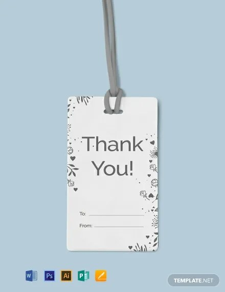 FREE Floral Thank You Tag Template Download 49+ Tags in PSD, Word