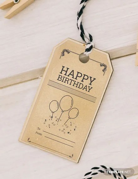 FREE Birthday Gift Tag Template Download 47 Tags In PSD Word