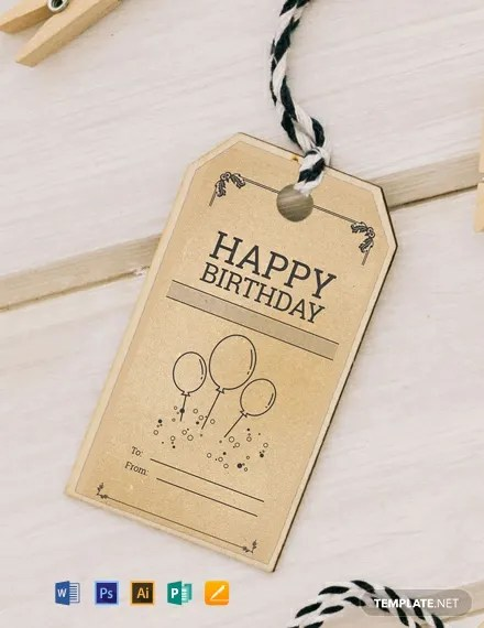 FREE Vintage Birthday Tag Template Download 49+ Tags in PSD, Word