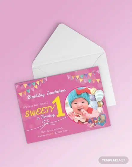 FREE 1st Birthday Invitation Template Download 637+ Invitations in