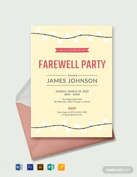 11+ FREE Word Farewell Invitation Templates Download Ready-Made