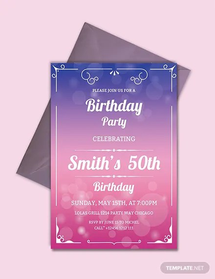 Free Invitation Templates Download Ready-Made Templatenet