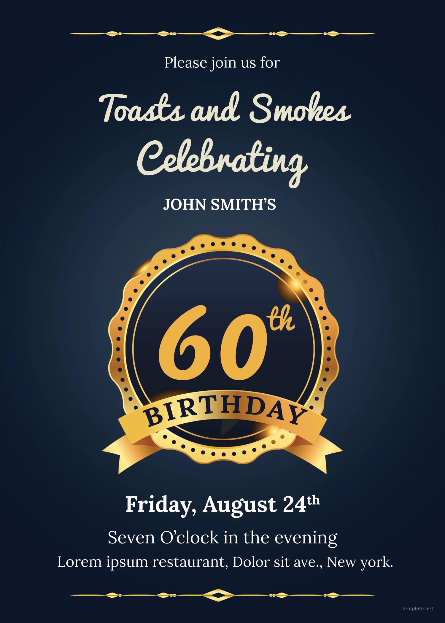 Fullsize Of 60th Birthday Invitations