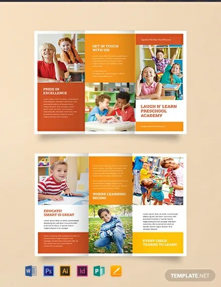 FREE Preschool Brochure Template Download 457+ Brochures in PSD