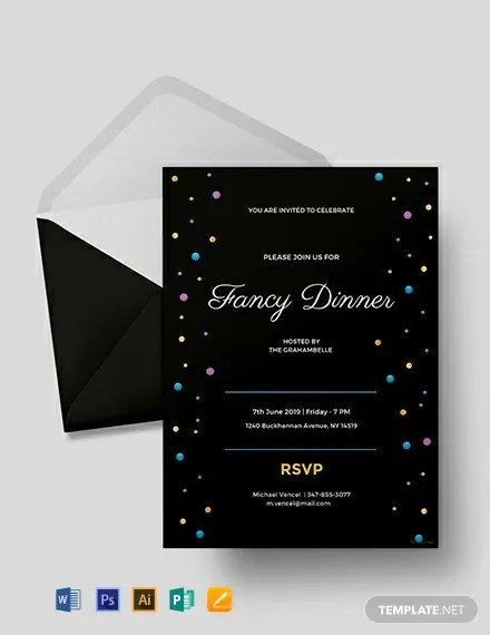 20+ FREE Dinner Invitation Templates Download Ready-Made