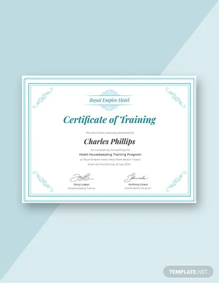 Free Training Certificate Templates Download Ready-Made Templatenet