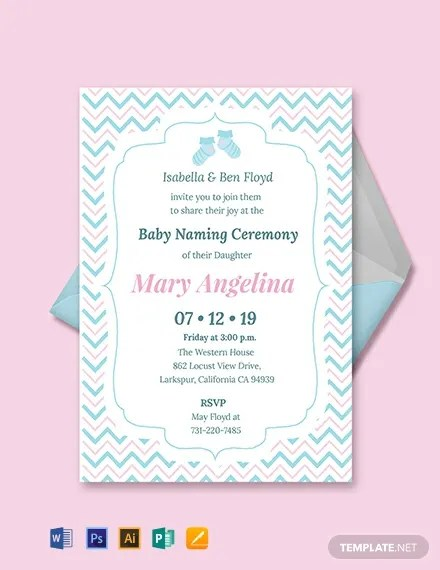 FREE Baby Naming Ceremony Invitation Template Download 637+