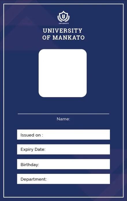 Free Blank ID Card Template in Adobe Illustrator Templatenet
