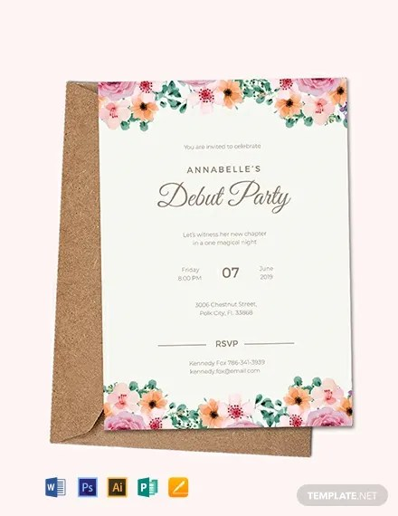 FREE Formal Debut Invitation Template Download 637+ Invitations in