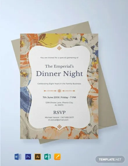 FREE Formal Dinner Invitation Template Download 637+ Invitations in