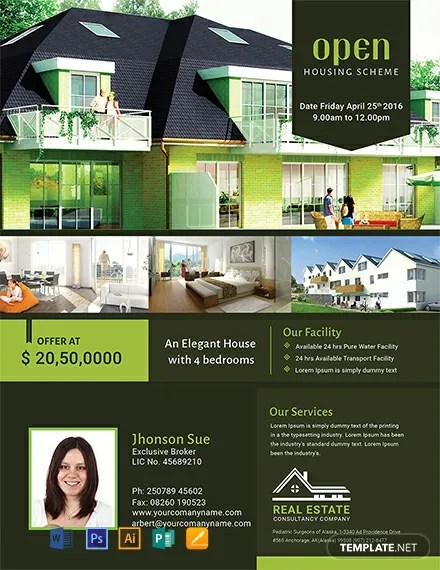 FREE Real Estate Open House Flyer Template Download 812+ Flyers in