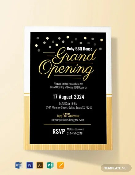 FREE Grand Opening Invitation Card Template Download 637+