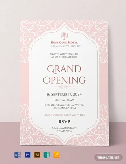 FREE Hotel Opening Invitation Card Template Download 637+