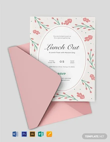 FREE Lunch Invitation Template Download 637+ Invitations in PSD