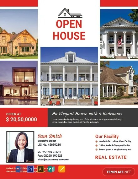 FREE Broker Open House Flyer Template Download 812+ Flyers in PSD