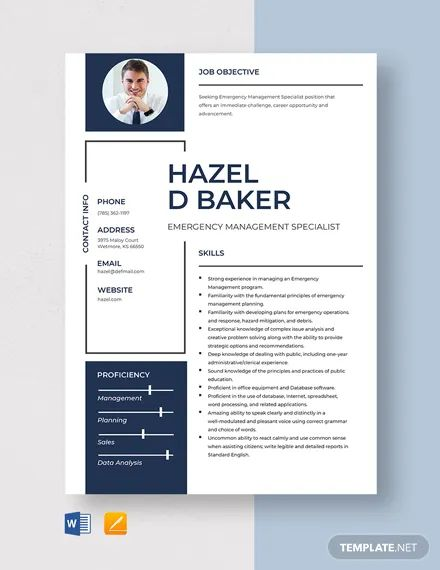 emergency management resume templates
