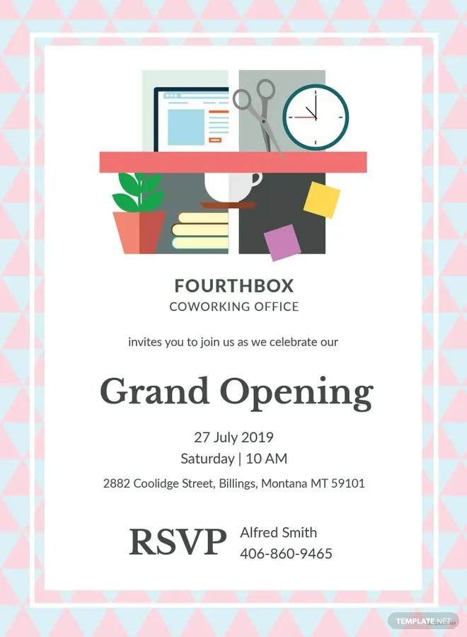 office opening invitation card xv-gimnazija