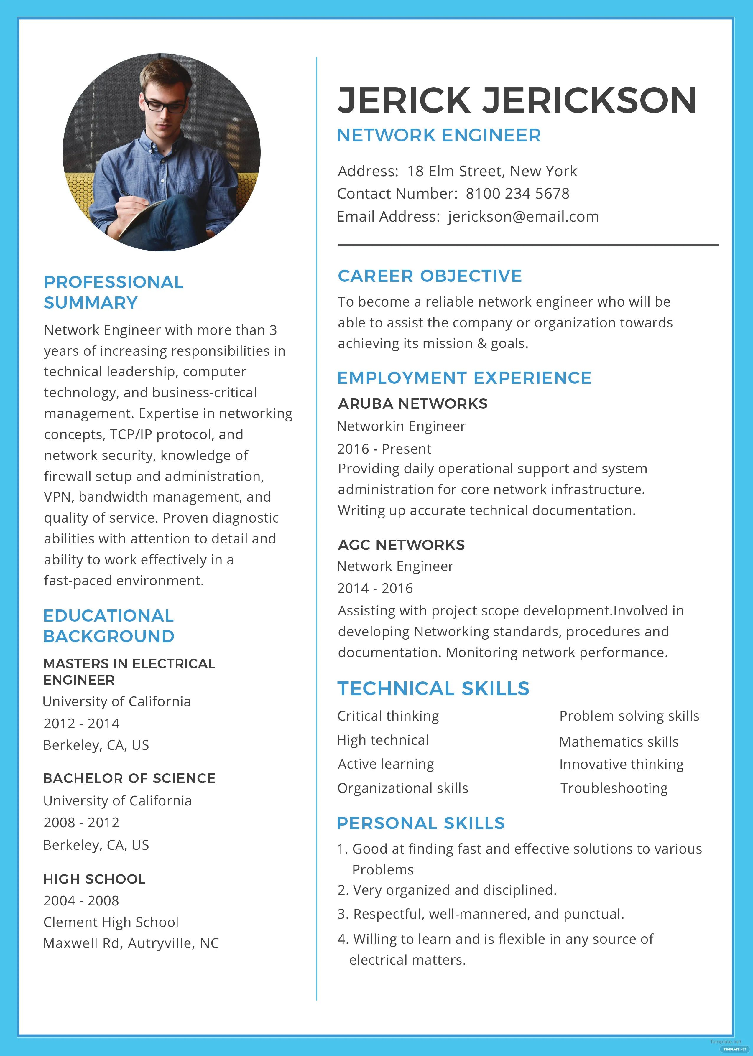 technical resume templates for microsoft word