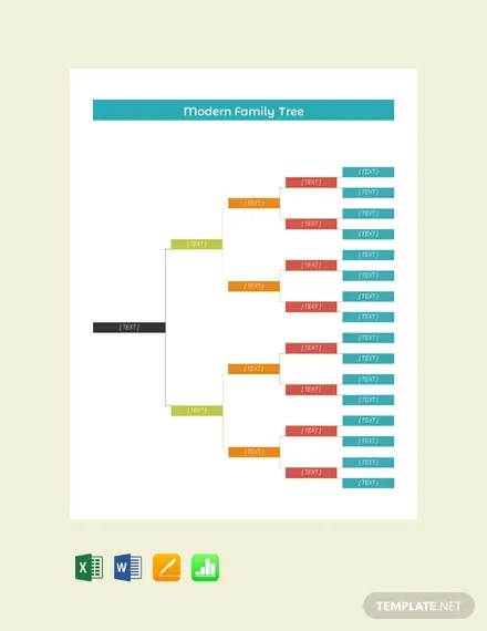 FREE Modern Family Tree Template Download 58+ Family Trees in Word