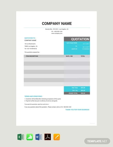 81+ FREE Quotation Templates Download Ready-Made Templatenet