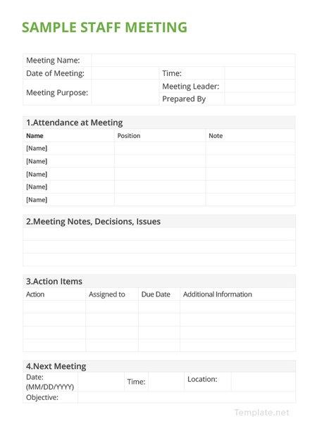 Sample Club Meeting Minutes Template in Microsoft Word, PDF, Apple - meeting minutes template microsoft word