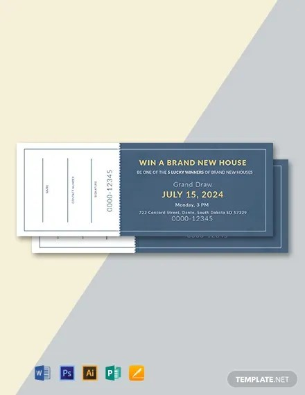 FREE Sample Raffle Ticket Template Download 101+ Tickets in PSD
