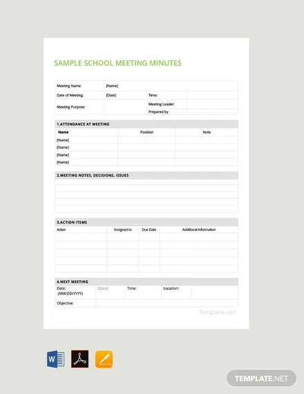 101+ FREE Meeting Minutes Templates Download Ready-Made Templatenet