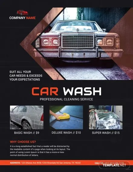 Free Car Wash Flyers  Download  Printable  Templatenet - car wash flyer template