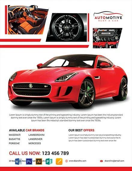 auto sale flyer